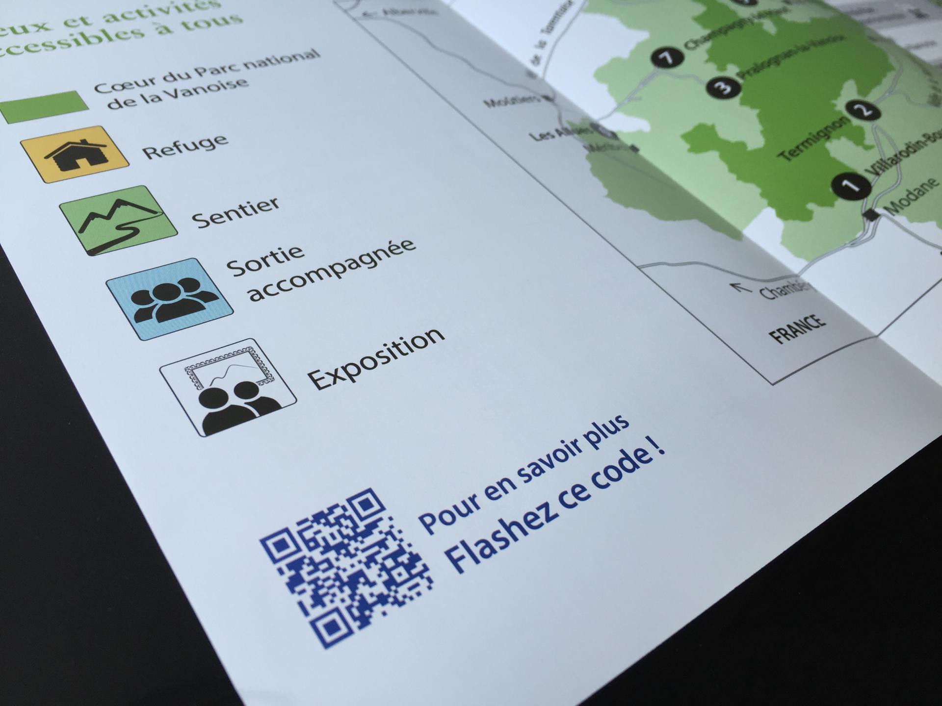 Communication et QR-Code pour le Parc de la Vanoise