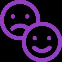 Picto avis violet